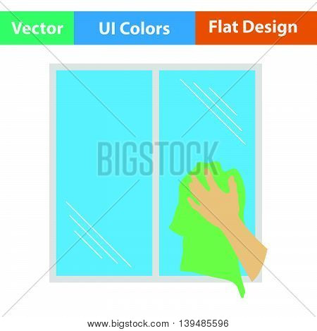 Hand Wiping Window Icon