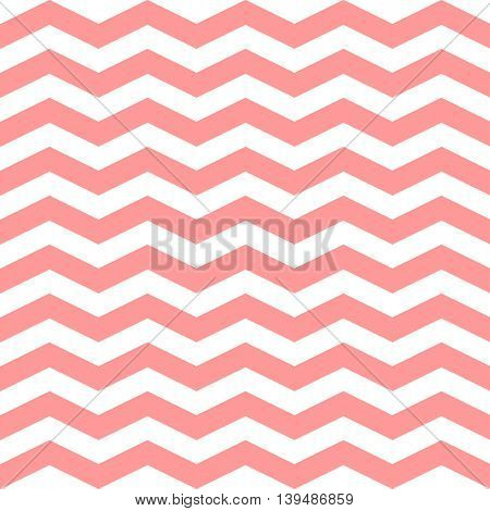 Chevron Zigzag seamless pattern. Vector pink and white colors pattern. Seamless texture for girly design