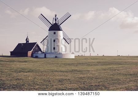 Lytham Windmill, Lancashire - vintage filter applied