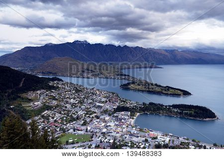 Beautiful town of Queenstown, South Island of New Zealand