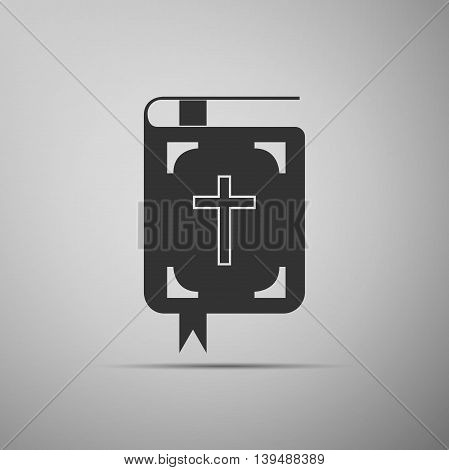 Bible icon on grey background. Adobe illustrator