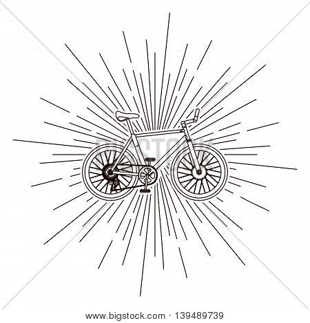bicycle over burst background isolated icon design, vector illustration  graphic