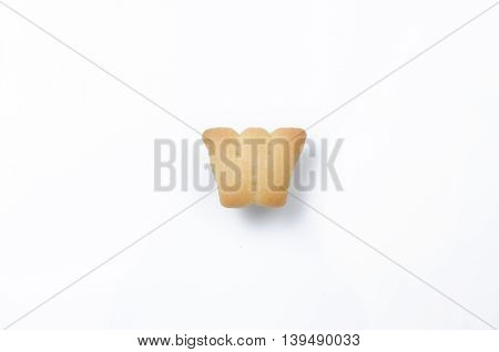 English alphabet made from bread. Letters of the British alphabet made of gingerbread. The letter W