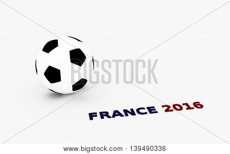 3d illustration of soccer ball isolated on white background
