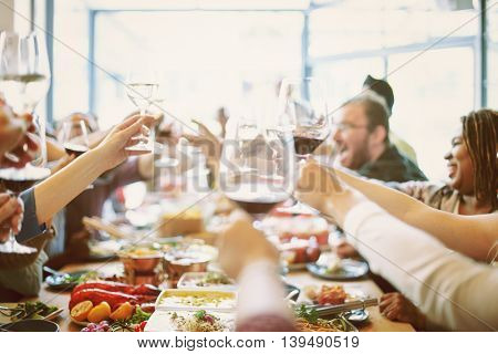 Party Celebration Food Happiness Cheers Concept