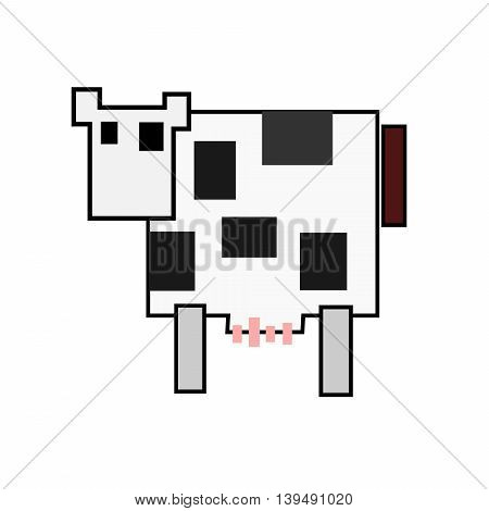 2d illustration of a cow isolated on white background