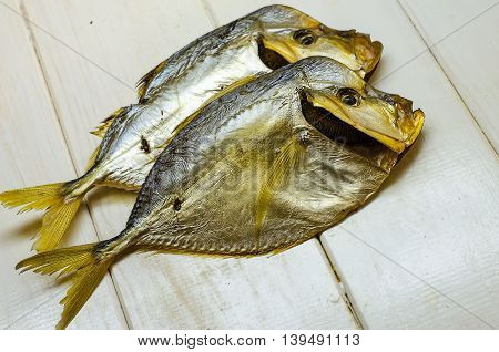 Vomero smoked fish on a white background