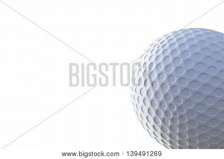 3d illustration of a golf ball isolated on white background