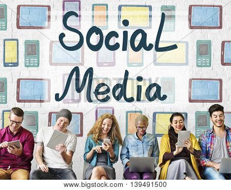Social Media Globalization Connection Communication Concept