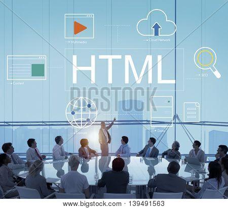 Web Page Webinar HTML Browser Concept