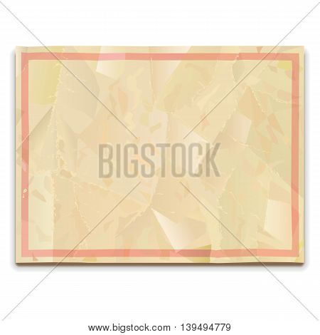 Vector Old Paper Blank isolated on white background