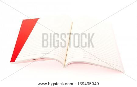Red Blank catalog,book mock up on white background