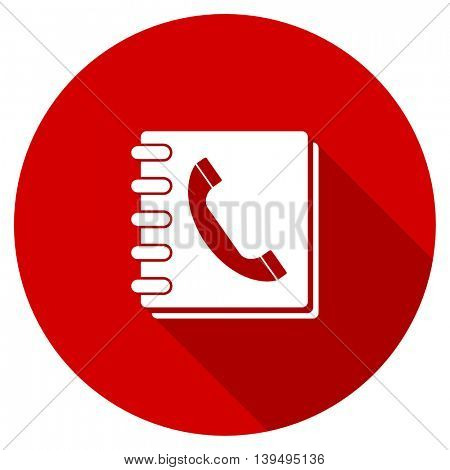 phonebook red vector icon