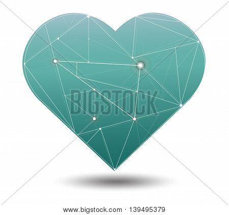 Geometry Green Pastel Background