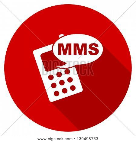 mms red vector icon