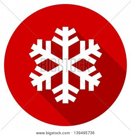 snow red vector icon