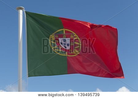 The current (2016) national flag of Portugal.