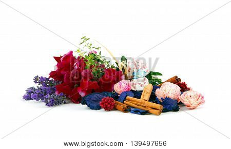 Mixed Ingredients To Scent Linen Bags.