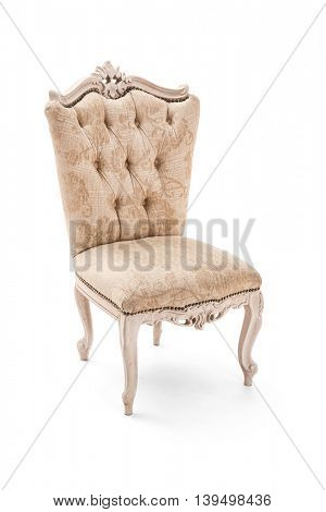 Luxury armchair on white background -Clipping Path