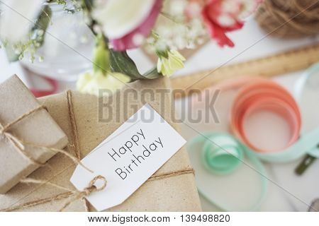 Happy Birthday Message Sign Concept