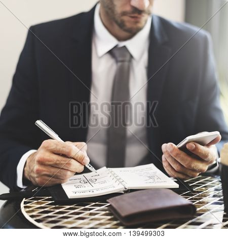 Businessman Working Connection Smart Phone Concept