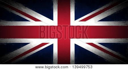 Illustration version of the Union Jack with a Vignette added