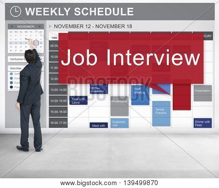 Job Interview Employment Human Resources Concept
