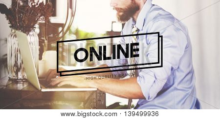 Online Technology Social Media Networking Concept