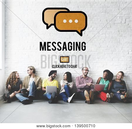 Messaging Texting Connection Networking Connection Concept