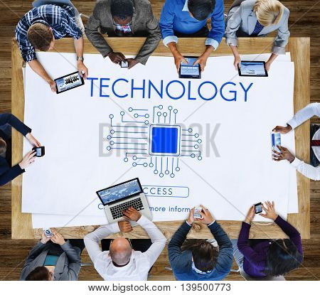 Technology Innovation Connection Internet Communication Concept