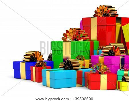 Christmas Gift Boxes With Bow.