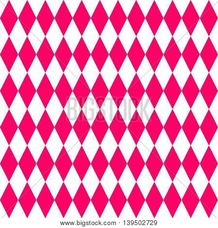 Pink and white tile vector pattern or decoration background wallpaper