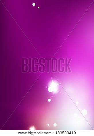 Purple shiny abstract background. Blurred light vector template. Magic layout