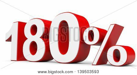 Discount 180 percent on white background. 3D illustration.