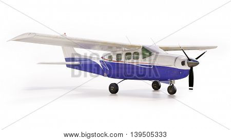 3d render: small tourist plane isolated on white