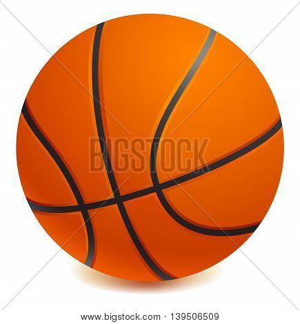 Basket ball Isolated on white background. Vector illustration