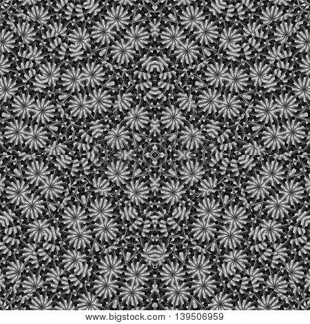 Secret Garden Floral Maze Collage Pattern