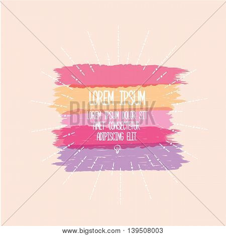 Vector Typography Banner Design Concept. Motivation Quote abstact design template. vector Speech bubble for text