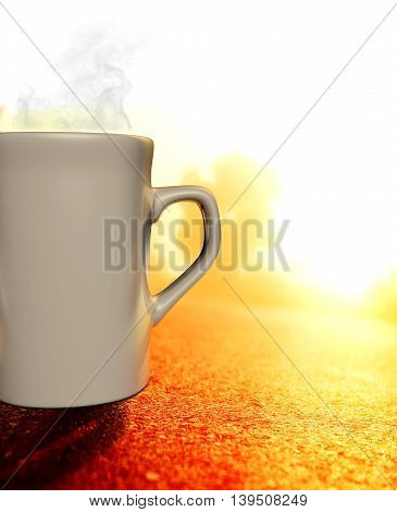 A 3D illustrator of cup with coffee