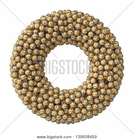 3D Lottery Balls Stack. Golden Version.