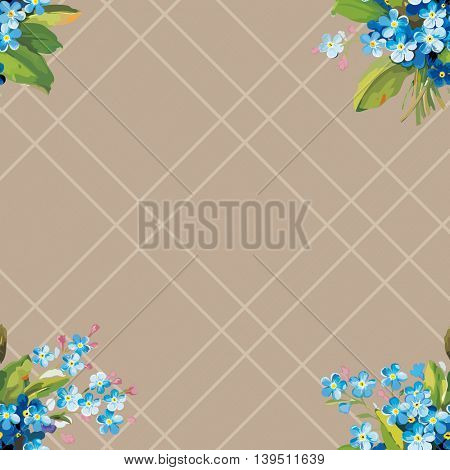 Seamless floral pattern with vintage flowers Vector Illustration EPS8