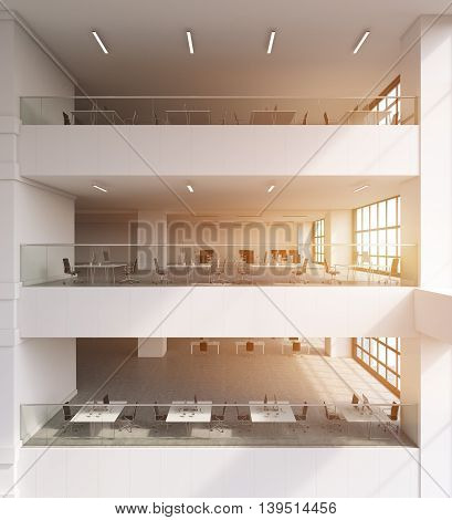 Multiple Storey Office Building Interior
