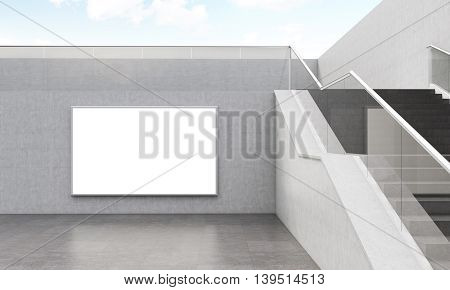 Stairs And Wall With Poster