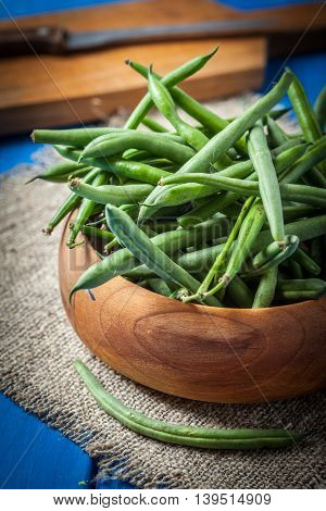 Green Beans In Bowl.