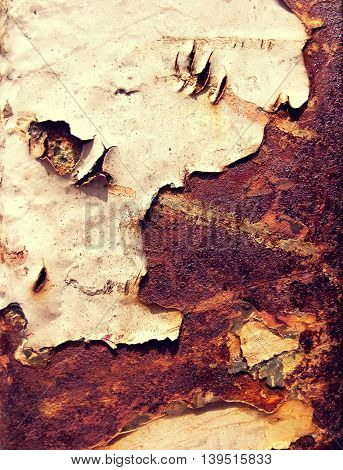 Old rust metal plate background for vintage abstract texture