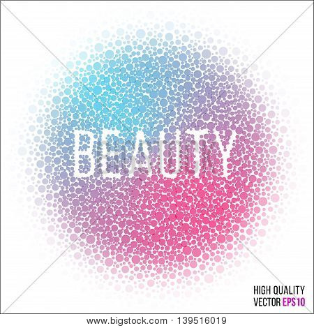 Beauty design for greeting card template with splash and artistic explosion effect. Red, blue vector.