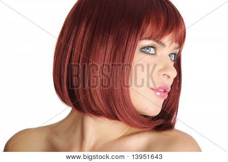 Close Up of Beautiful Redhead Woman