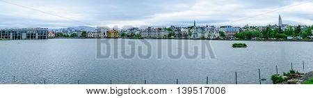 The Tjornin (the Pond) In Reykjavik