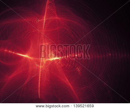 Fantastic space wave object, glowing energy rays, global connections concept. Science model for abstract designs.