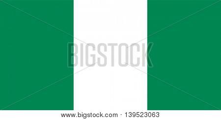Vector Republic of Nigeria flag